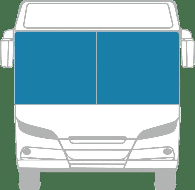 Стекло лобовое (два раздельных) для Mercedes - Benz O345 Conecto
