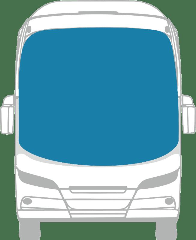 Стекло лобовое панорамное для Mercedes - Benz O408