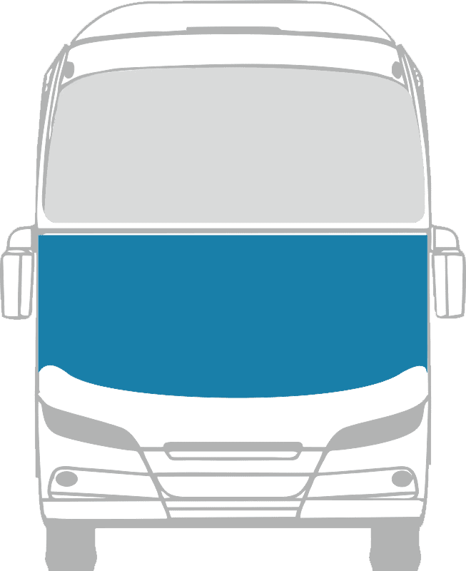 Стекло лобовое нижнее панорамное для Neoplan N117