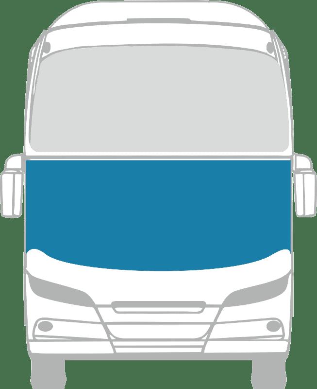 Стекло лобовое нижнее панорамное для Neoplan N516