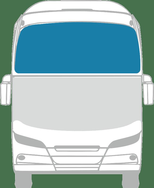 Стекло лобовое верхнее панорамное для Setra 228